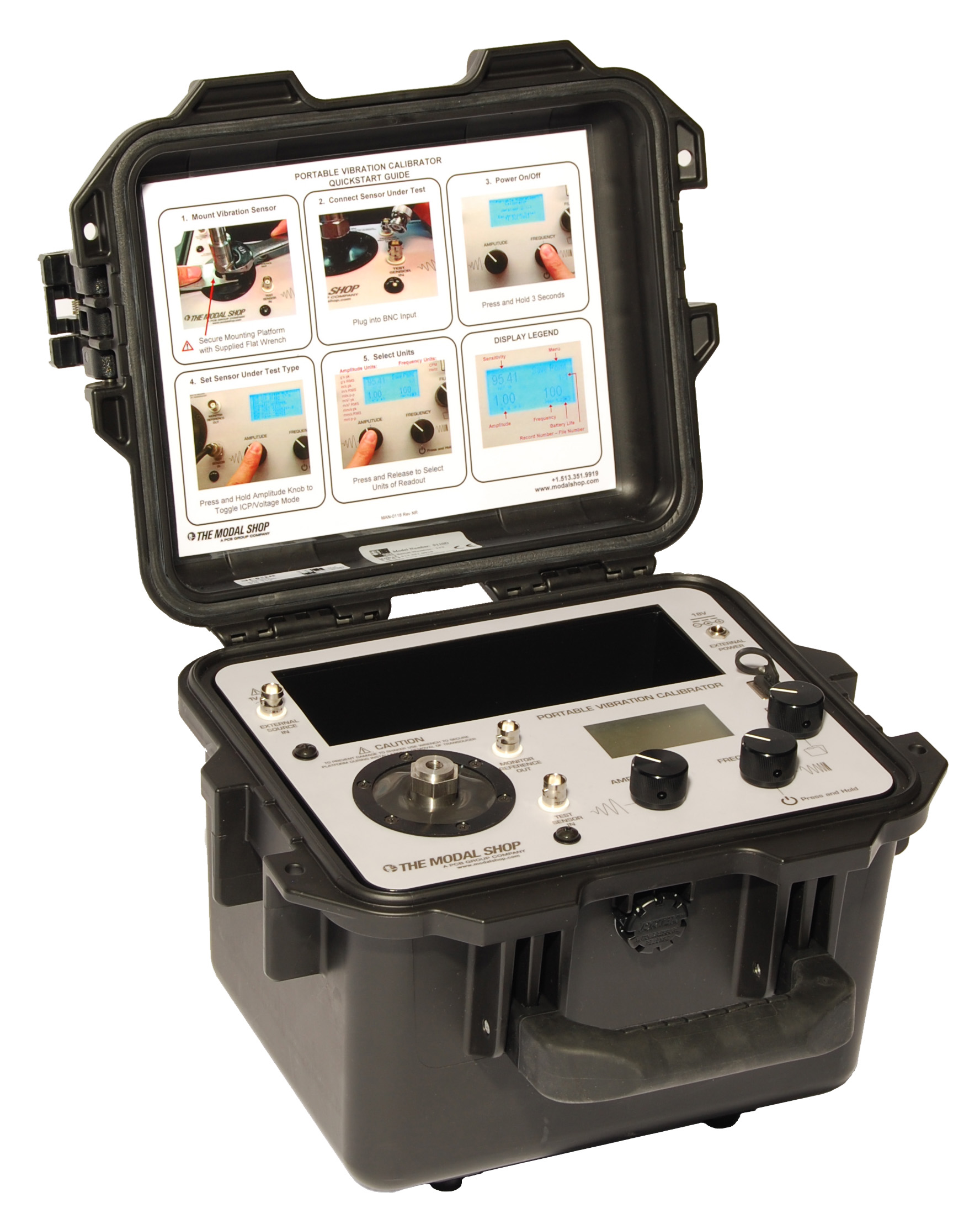 9110D Portable Vibration Calibrator for Metrology Applications