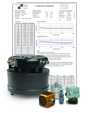 Air Bearing Shaker with Calibration Sensors and Calibration Certificate